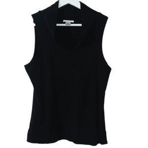 Harold's Black Sleeveless Cowl Neck Top Size M